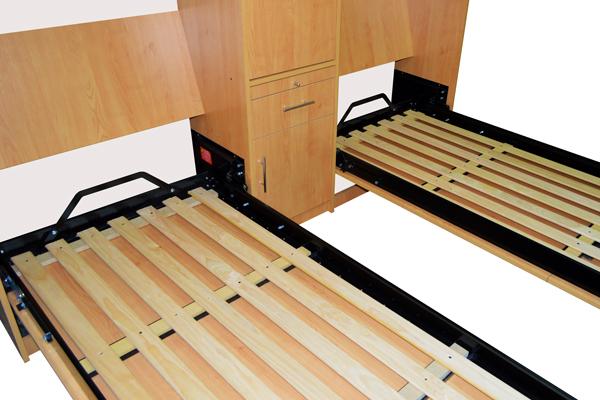 Mueble con camas rebatibles rosas zubiri - Camas rebatibles ...