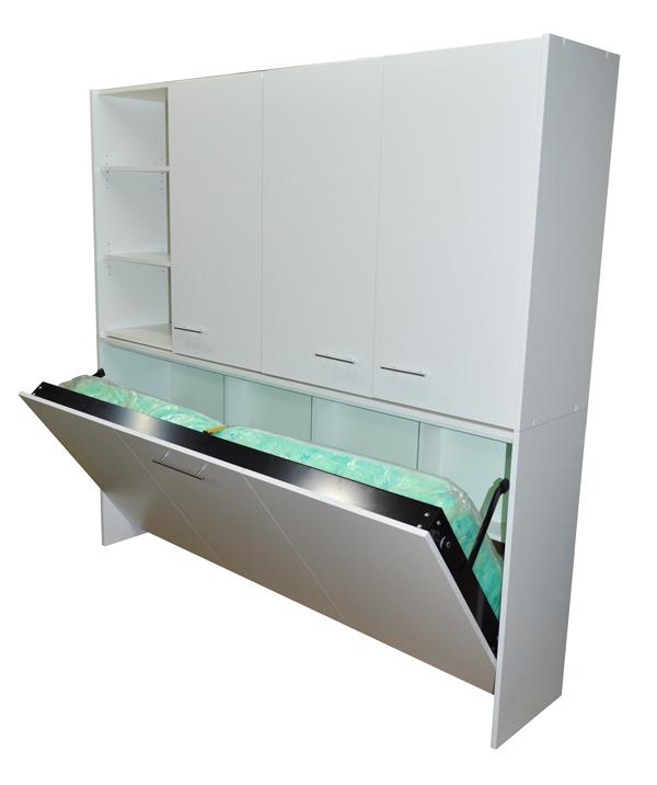 Camas rebatibles horizontal litera modular rosas zubiri for Estantes para espacios pequenos