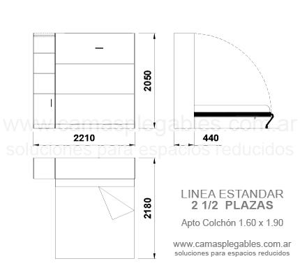 Medidas de camas rebatibles rosas zubiri for Medida estandar de colchon de una plaza